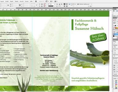 Flyer für Printwerbung