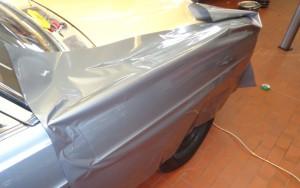 Mercedes Vollverklebung silber